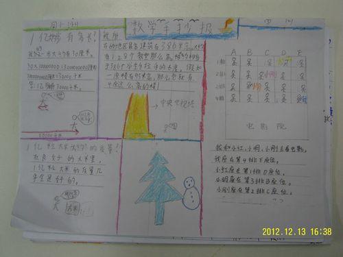 数学小报,伴我成长 四年级数学组数感研究图片