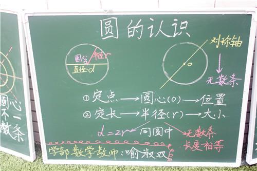 数学板书展示图片