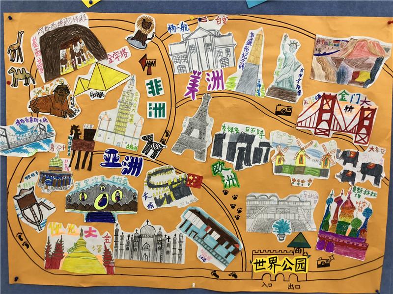 世界公园手绘地图