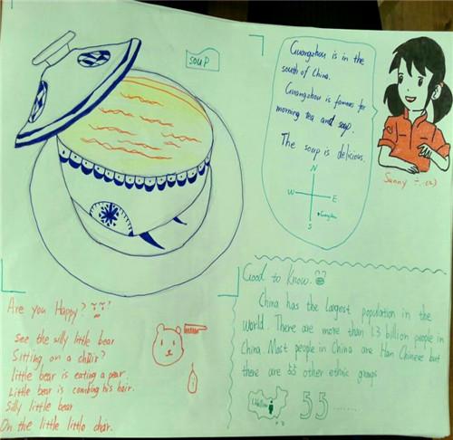 有的学生将自己喜爱的动物用英语简单的介绍