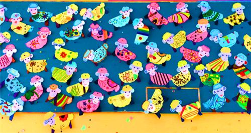 羊年主题儿童画