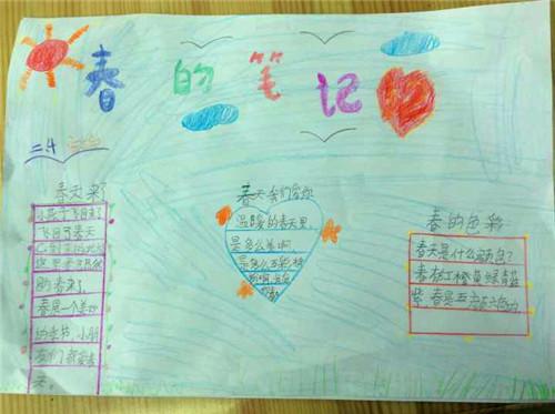 有的同学制作了自然笔记,有的同学制作手抄报,还有的同学用彩纸制