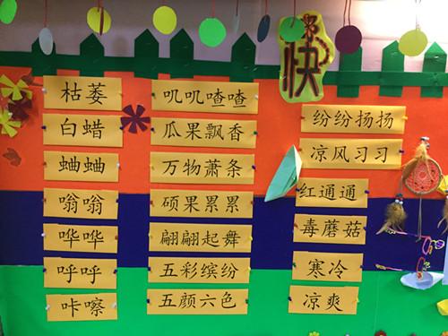 学生们畅所欲言,讨论的十分激烈,积累了很多关于秋天的词汇.图片