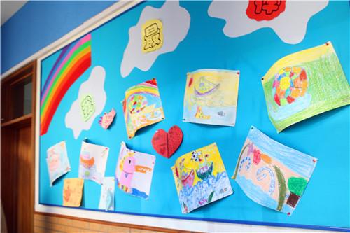 校园风景卡纸剪贴画素材